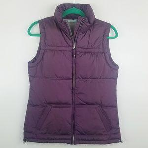 Maurices Full Zip Puffer Vest Purple Plum Color